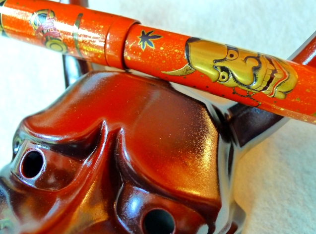 The Dunhill Namiki Hannya is truly an extraordinary maki-e pen.
